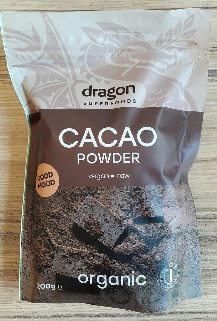 Био Какао на прах, сурово, Dragon Superfoods, 200 g