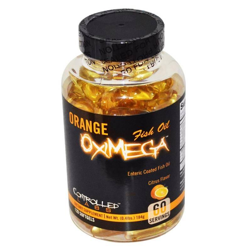 Orange OxiMega FISH OIL - 120 Дражета CONTROLLED LABS