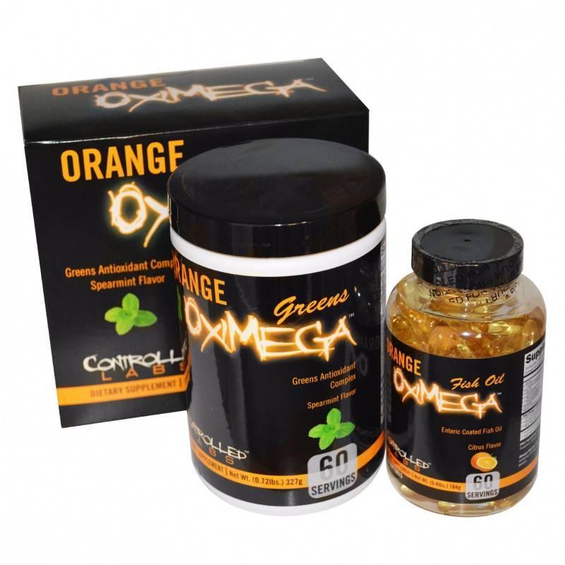 Orange OxiMega Greens/Fish Oil Kit - 60 Дози CONTROLLED LABS