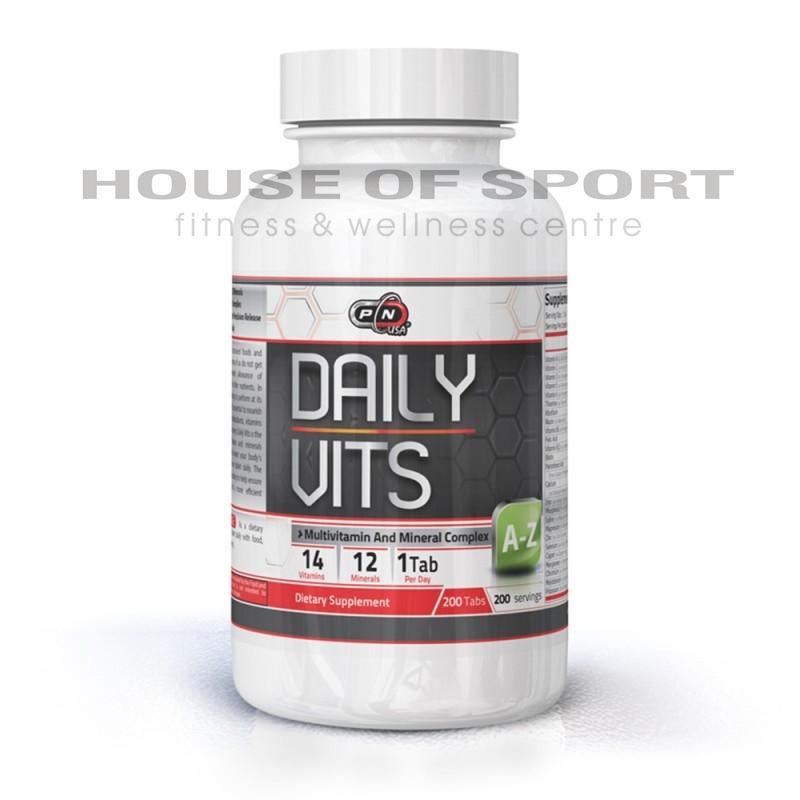 DAILY VITAMINS - 200 Таблетки Pure Nutrition