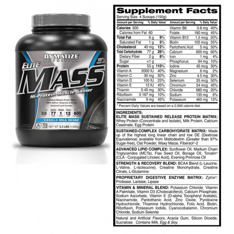 DYMATIZE - Elite Mass - 1500 Г