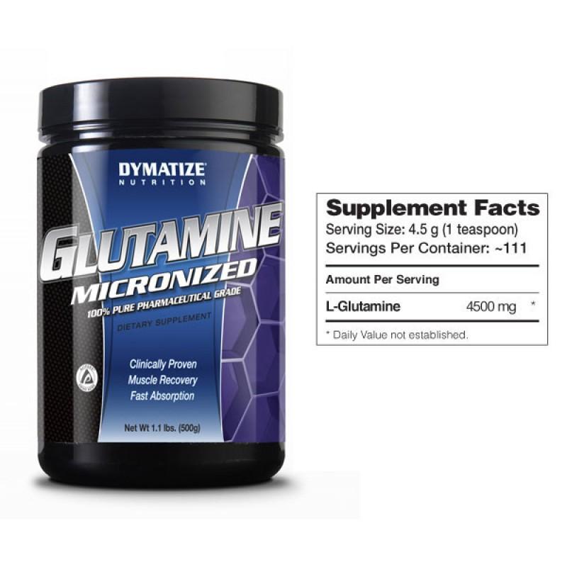 DYMATIZE - Glutamine Micronized - 500 Г