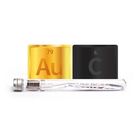 NANO-B Антибактериална четка за зъби с въглен и злато