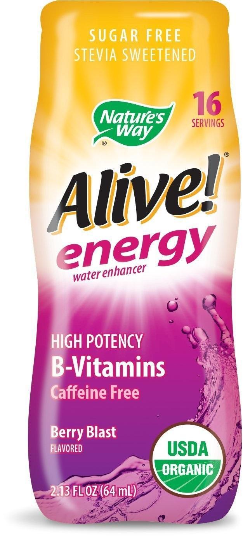 Алайв Енерджи MAX БЕЗ Кофеин (горски плодове) 64 ml / Обогатител за вода с В-витамини