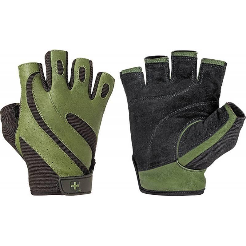 Мъжки ръкавици за фитнес Pro - Зелени