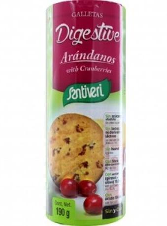 Пълнозърнести Бисквити Диджестив с Боровинка, без захар, без яйца,190гр.