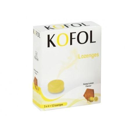 Кофол, бонбони за гърло, с аромат на мед и лимон, 12 бонбона
