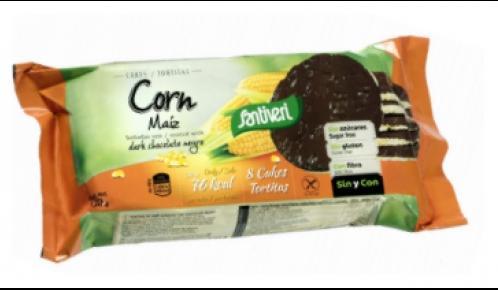 Царевични сухари с черен шоколад,без глутен,без захар, 130гр.
