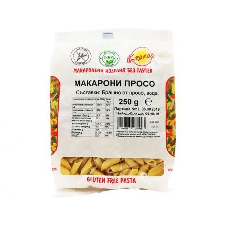 Безглутенови макарони от Просо 250 гр.