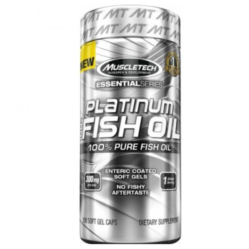 MuscleTech - Platinum Fish Oil - 100 Капсули