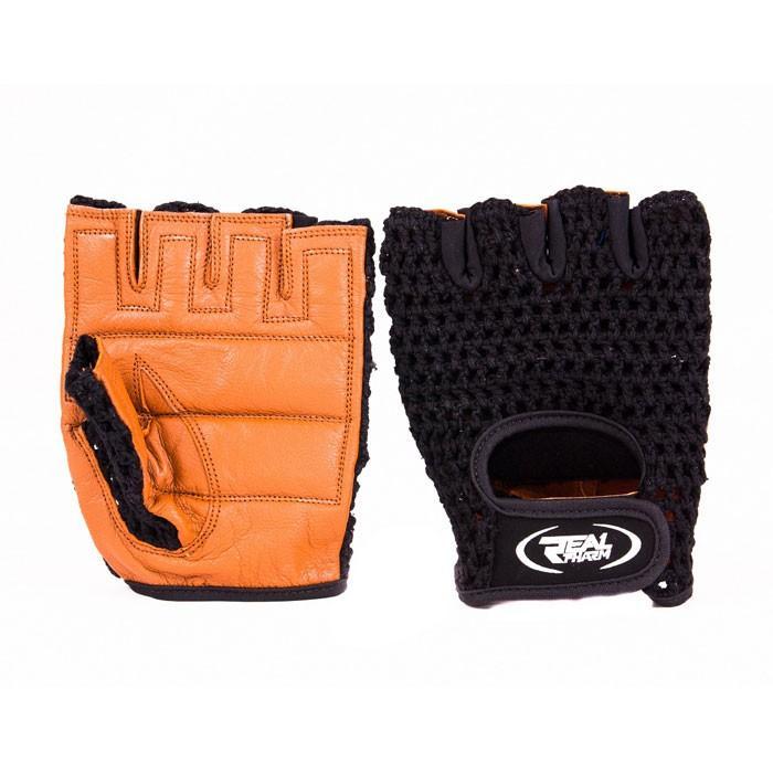 Фитнес ръкавици Real Pharm Brown Classic