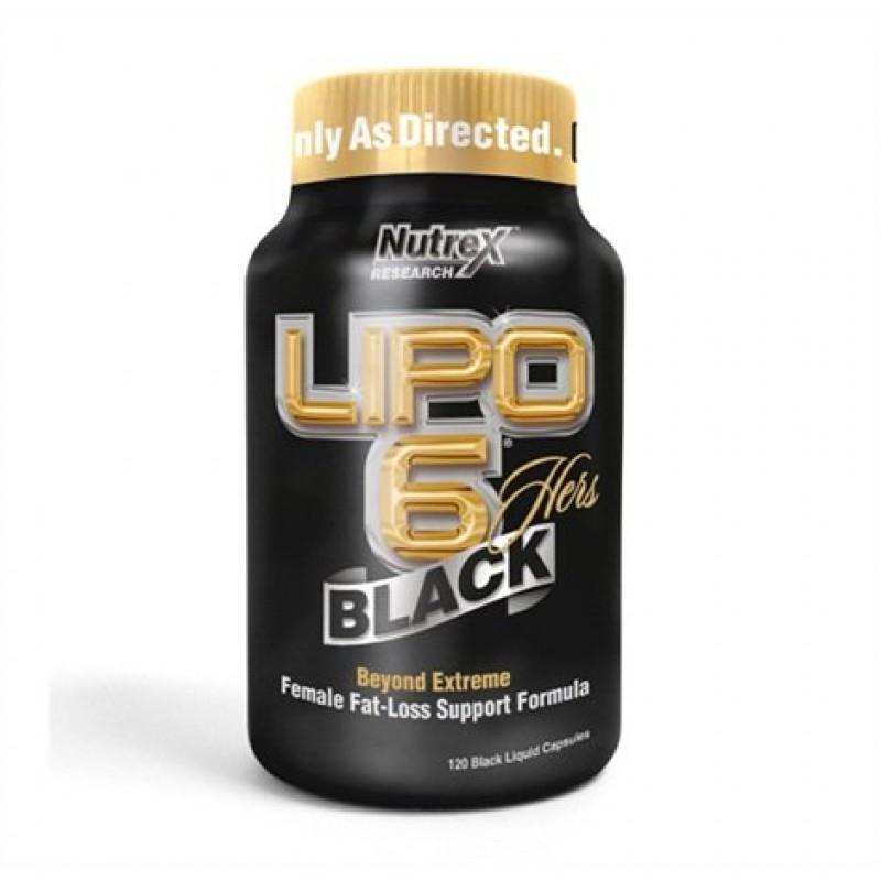 Lipo-6 Black Hers - 120 Капсули - Nutrex