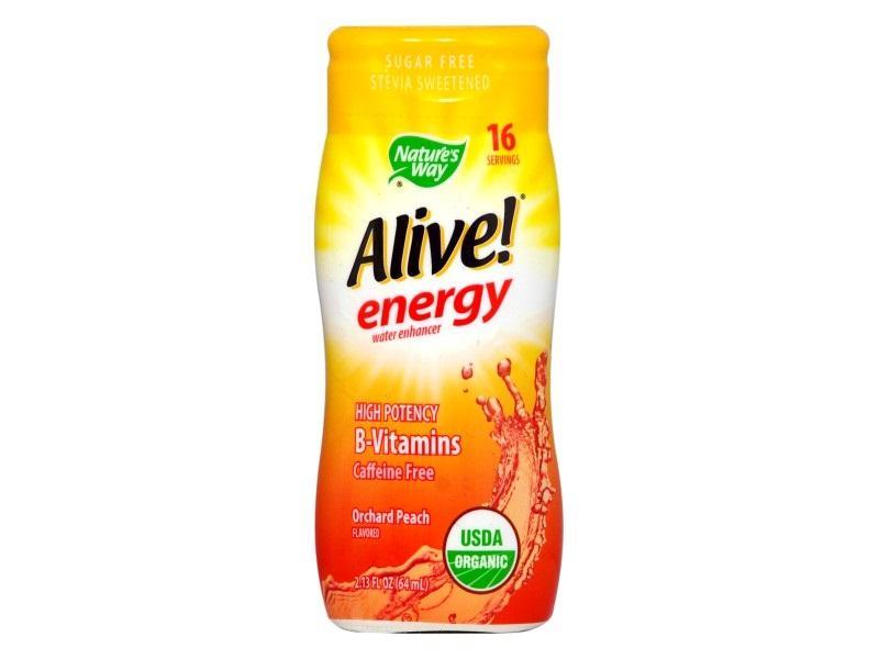 Алайв Енерджи MAX БЕЗ Кофеин (градинска праскова) 64 ml / Обогатител за вода с В-витамини