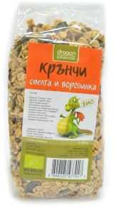 Био Крънчи Спелта и Боровинка, Dragon Superfoods, 300 g