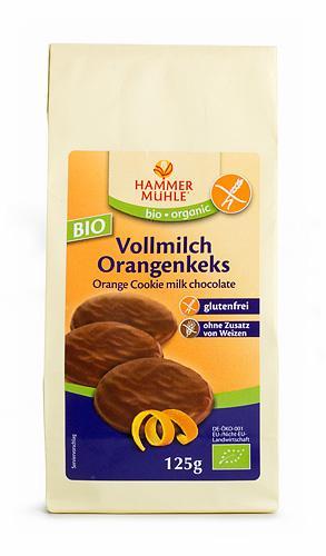 БИО Безглутенови бисквити с млечен шоколад и портокал