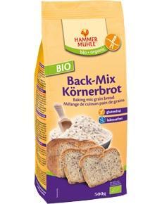 БИО Безглутенова смес за печене на пълнозърнест хляб, 500g