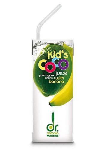 Био кокосова вода с банан за деца, 200ml
