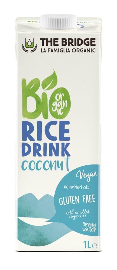 Био оризова напитка с кокос, 1л