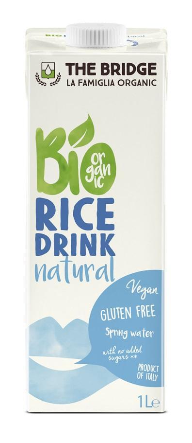 Био оризова напитка, натурална, 1л