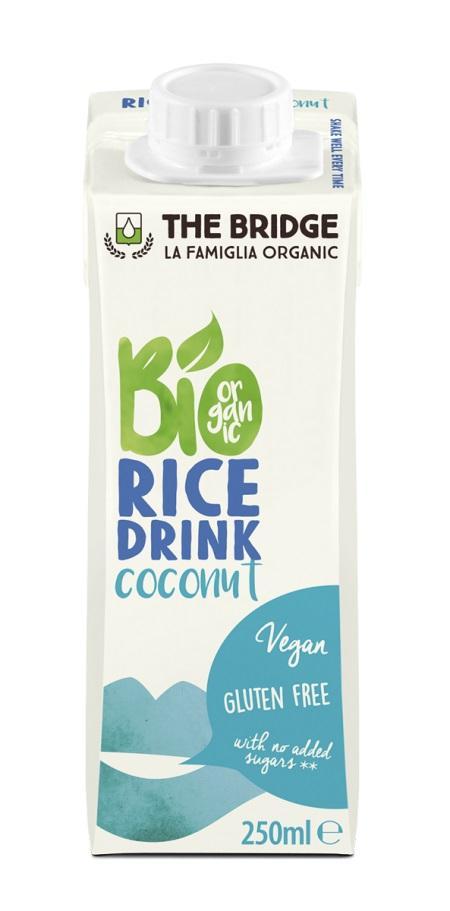 Био оризова напитка с кокос, 200мл