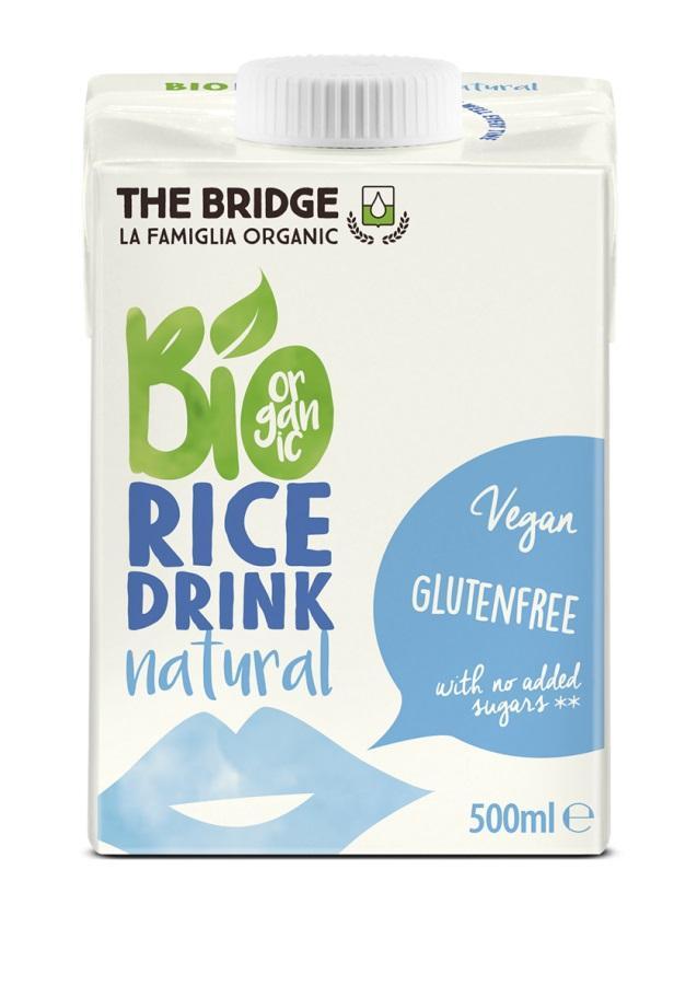 Био оризова напитка, натурална, 200 мл