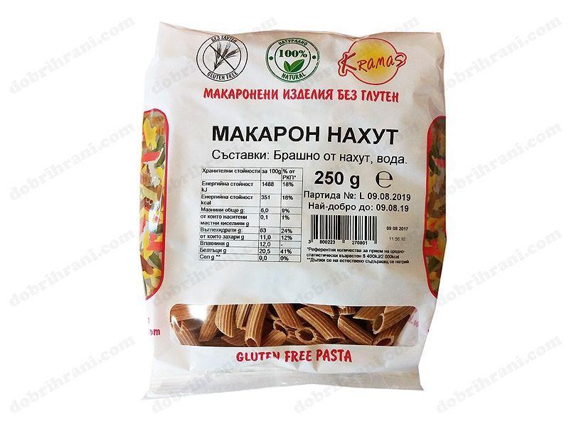 Безглутенови макарони от Нахут 250 гр.