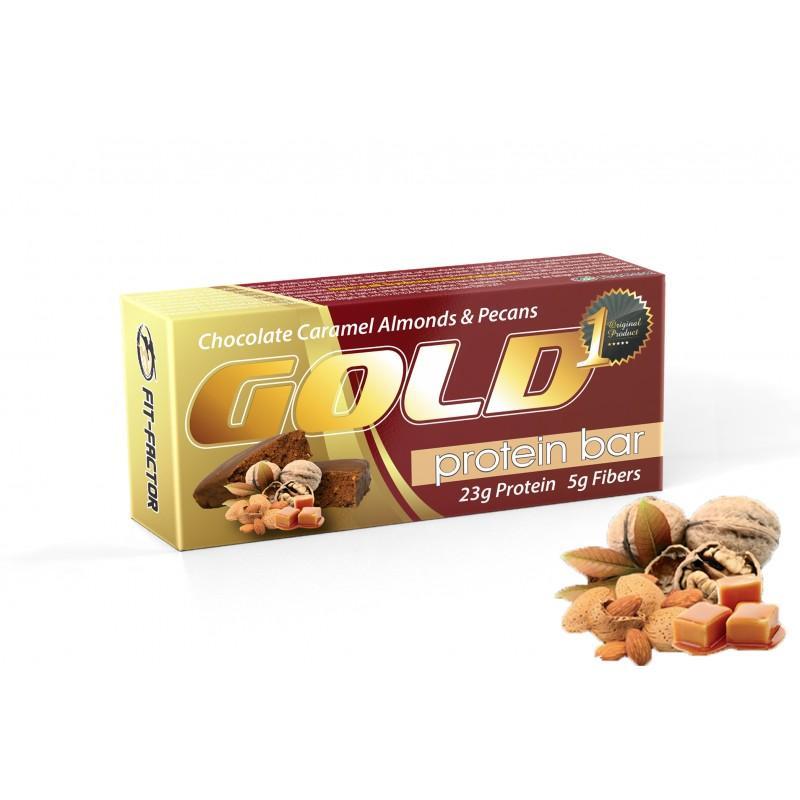GOLD Протеинов десерт- Карамел с американски орех и бадеми