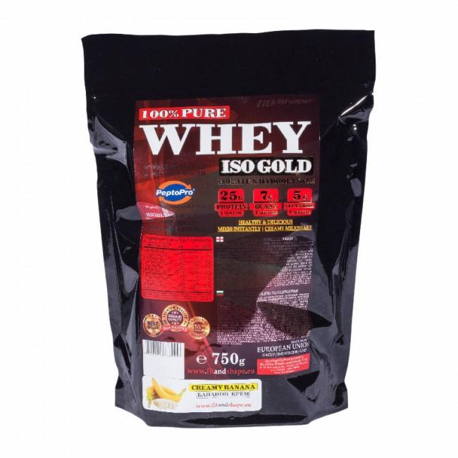 Pure WHEY Iso GOLD - 750гр пакет Fit and Shape
