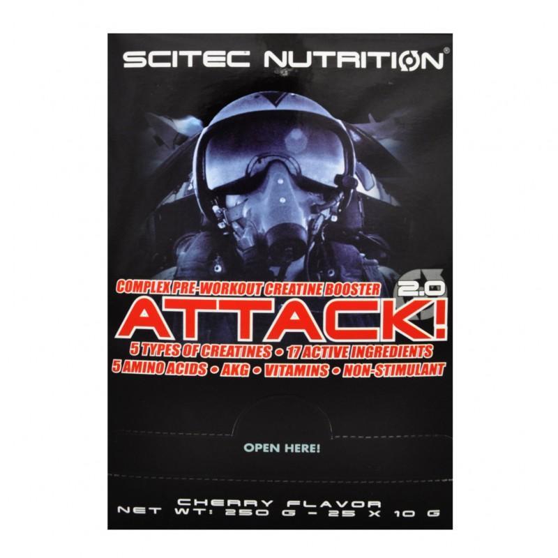 SCITEC - Attack 2.0 - Дози - 25 бр.