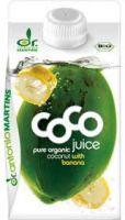 Био кокосова вода с банан, 500ml