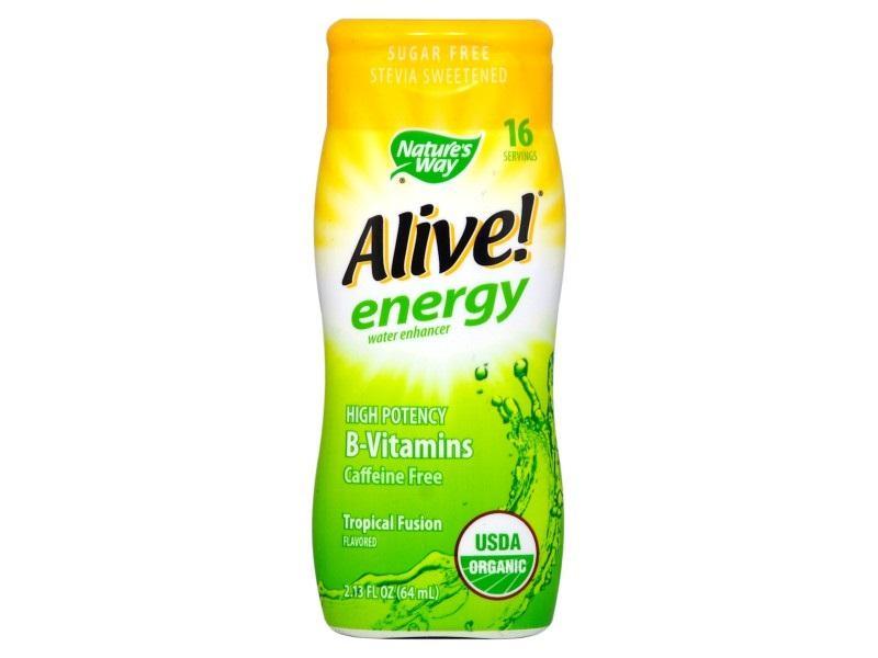 Алайв Енерджи MAX с Билков Кофеин (тропически) 64 ml / Обогатител за вода с В-витамини